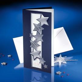 Weihnachts-Faltkarten inkl. Umschläge DIN lang 270g+100g Fantasy Sigel DS016 (PACK= JE 10 STÜCK) Produktbild