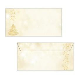 Weihnachts-Briefumschläge DIN lang 90g Graceful Christmas gummiert Sigel DU083 (PACK=50 STÜCK) Produktbild