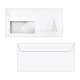 Weihnachts-Briefumschläge DIN lang 90g Golden Tree Goldprägung gummiert Sigel DU084 (PACK=50 STÜCK) Produktbild