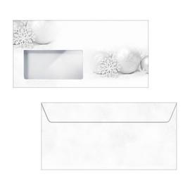 Weihnachts-Briefumschläge DIN lang 90g Winter Sparkle gummiert Sigel DU089 (PACK=50 STÜCK) Produktbild