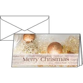 Weihnachts-Faltkarten inkl. Umschläge DIN lang 220g+100g Christmas Glitter Sigel DS029 (PACK= JE 10 STÜCK) Produktbild
