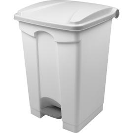 Tretabfallbehälter mit Deckel 45l weiß/weiß Helit H2402105 Produktbild