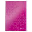 Notizbuch WOW Hardcover kariert 80Blatt A5 pink metallic Leitz 4628-10-23 Produktbild
