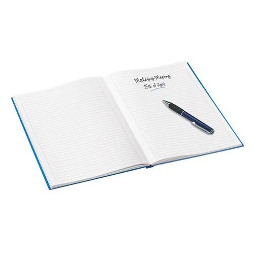 Notizbuch WOW Hardcover kariert 80Blatt A5 orange metallic Leitz 4628-10-44 Produktbild Additional View 1 L