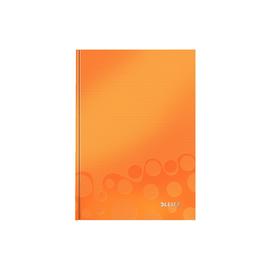 Notizbuch WOW Hardcover kariert 80Blatt A5 orange metallic Leitz 4628-10-44 Produktbild