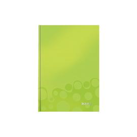 Notizbuch WOW Hardcover kariert 80Blatt A5 grün metallic Leitz 4628-10-64 Produktbild