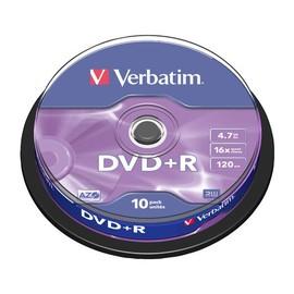DVD+R DataLife Plus 16fach Cakebox 4,7GB/120Min. Verbatim 43498 (PACK=10 STÜCK) Produktbild