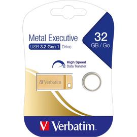 USB Stick 3.0 Metal Executive 32GB 80MB/s gold Verbatim 99105 Produktbild