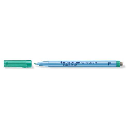 Folienstift Lumocolor correctable 305F 0,6mm fein grün trocken abwischbar Staedtler 305F-5 Produktbild Additional View 1 L