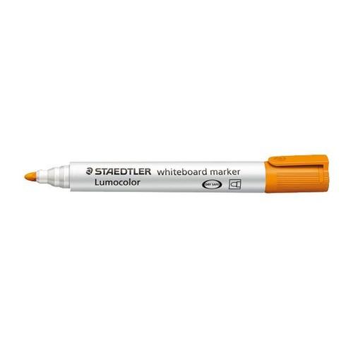 Whiteboardmarker Lumocolor 351 2mm Rundspitze orange trocken abwischbar Staedtler 351-4 Produktbild Front View L