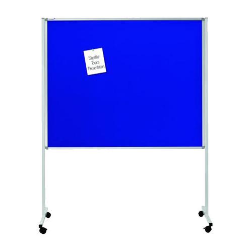 Multiboard XL 120x150cm mit Rollen weiß/blau Legamaster 7-210600 Produktbild
