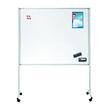 Multiboard XL 120x150cm mit Rollen weiß/blau Legamaster 7-210600 Produktbild Additional View 1 S