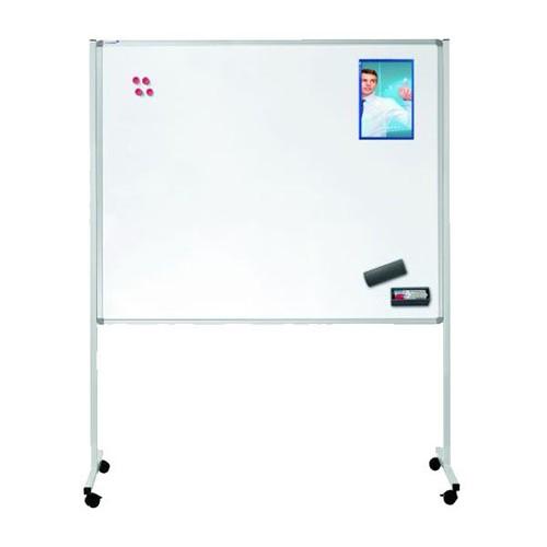 Multiboard XL 120x150cm mit Rollen weiß/blau Legamaster 7-210600 Produktbild Additional View 1 L