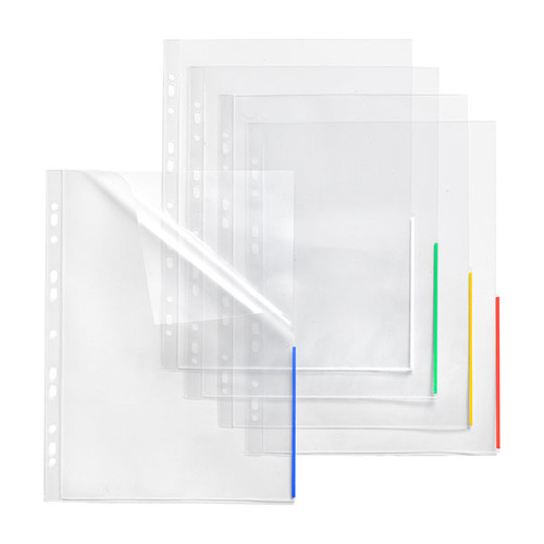 Prospekthülle oben + halbseitig rechts offen A4 Überbreite 310x235/217mm transparent/weiß PP Folder Sys 45 325 (PACK=10 STÜCK) Produktbild Front View L