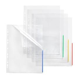 Prospekthülle oben + halbseitig rechts offen A4 Überbreite 310x235/217mm transparent/rot PP Folder Sys 45 325 (PACK=10 STÜCK) Produktbild
