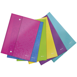 Dokumentenmappe WOW mit 3 Klappen A4 für 150Blatt farbig sortiert PP Leitz 4469-00-99 Produktbild