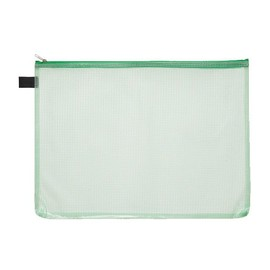 Kleinkrambeutel mit Reißverschluß A4 transluzent/grün PVC Foldersys 40472-54 Produktbild