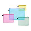 Kleinkrambeutel mit Reißverschluß A4 transluzent/gelb PVC Foldersys 40472-84 Produktbild Additional View 1 S