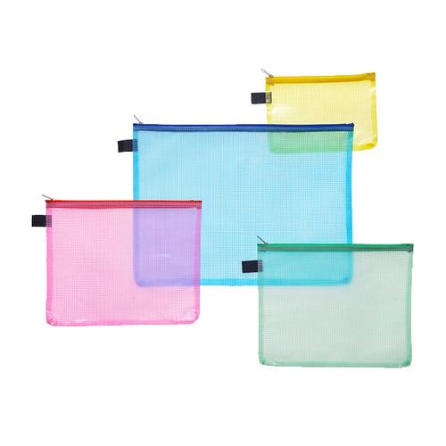 Kleinkrambeutel mit Reißverschluß A4 transluzent/gelb PVC Foldersys 40472-84 Produktbild Additional View 1 L