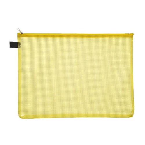 Kleinkrambeutel mit Reißverschluß A4 transluzent/gelb PVC Foldersys 40472-84 Produktbild