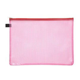 Kleinkrambeutel mit Reißverschluß A4 transluzent/rot PVC Foldersys 40472-84 Produktbild
