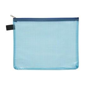 Kleinkrambeutel mit Reißverschluß A5 transluzent/blau PVC Foldersys 40474-44 Produktbild