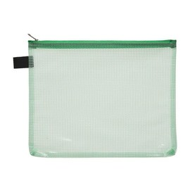Kleinkrambeutel mit Reißverschluß A5 transluzent/grün PVC Foldersys 40474-54 Produktbild