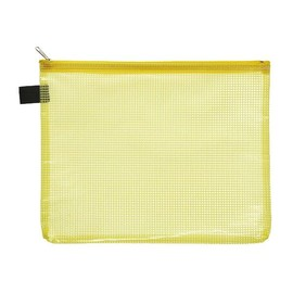 Kleinkrambeutel mit Reißverschluß A5 transluzent/gelb PVC Foldersys 40474-64 Produktbild