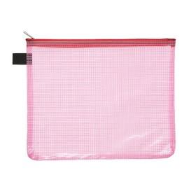 Kleinkrambeutel mit Reißverschluß A5 transluzent/rot PVC Foldersys 40474-84 Produktbild