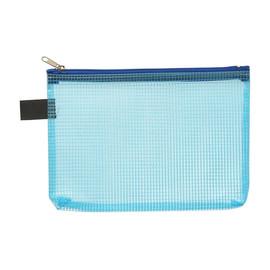 Kleinkrambeutel mit Reißverschluß A6 transluzent/blau PVC Foldersys 40476-44 Produktbild