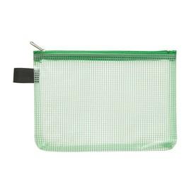 Kleinkrambeutel mit Reißverschluß A6 transluzent/grün PVC Foldersys 40476-54 Produktbild