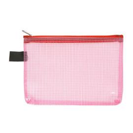 Kleinkrambeutel mit Reißverschluß A6 transluzent/rot PVC Foldersys 40476-84 Produktbild
