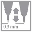 Fineliner Sensor 189 0,3mm gefederte Rundspitze türkis Stabilo 189/51 Produktbild Additional View 7 S
