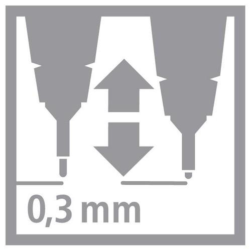 Fineliner Sensor 189 0,3mm gefederte Rundspitze türkis Stabilo 189/51 Produktbild Additional View 7 L