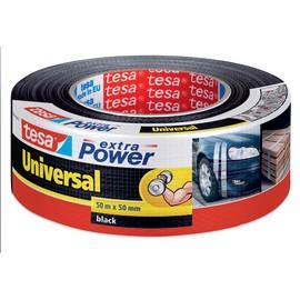 Gewebeband extra Power Universal 50mm x 50m schwarz Tesa 56389-00001-05 (RLL=50 METER) Produktbild