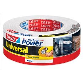 Gewebeband extra Power Universal 50mm x 50m weiß Tesa 56389-00002-06 (RLL=50 METER) Produktbild