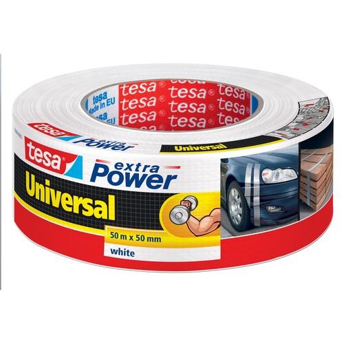 Gewebeband extra Power Universal 50mm x 50m weiß Tesa 56389-00002-06 (RLL=50 METER) Produktbild Front View L