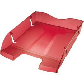 Briefkorb PET für A4 275x70x355mm rot transparent Kunststoff Helit H2363520 Produktbild
