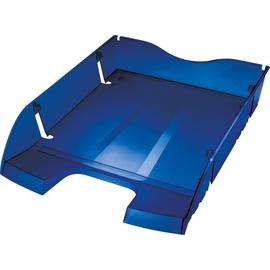 Briefkorb PET für A4 275x70x355mm blau transparent Kunststoff Helit H2363530 Produktbild