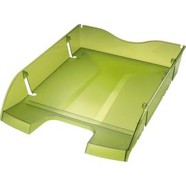 Briefkorb PET für A4 275x70x355mm grün transparent Kunststoff Helit H2363550 Produktbild