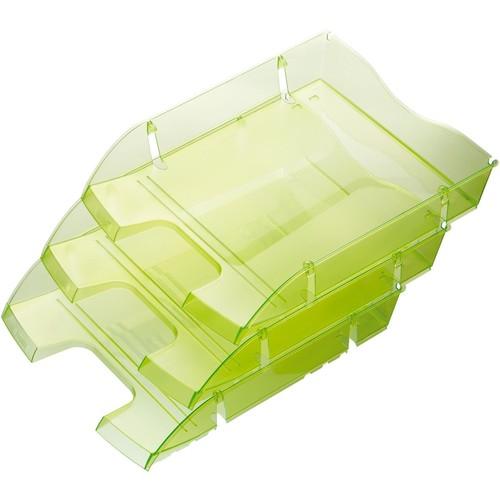 Briefkorb PET für A4 275x70x355mm grün transparent Kunststoff Helit H2363550 Produktbild Additional View 1 L