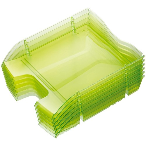 Briefkorb PET für A4 275x70x355mm grün transparent Kunststoff Helit H2363550 Produktbild Additional View 2 L