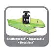 Briefkorb PET für A4 275x70x355mm grün transparent Kunststoff Helit H2363550 Produktbild Additional View 4 S