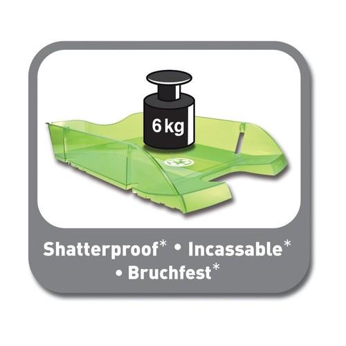 Briefkorb PET für A4 275x70x355mm grün transparent Kunststoff Helit H2363550 Produktbild Additional View 4 L