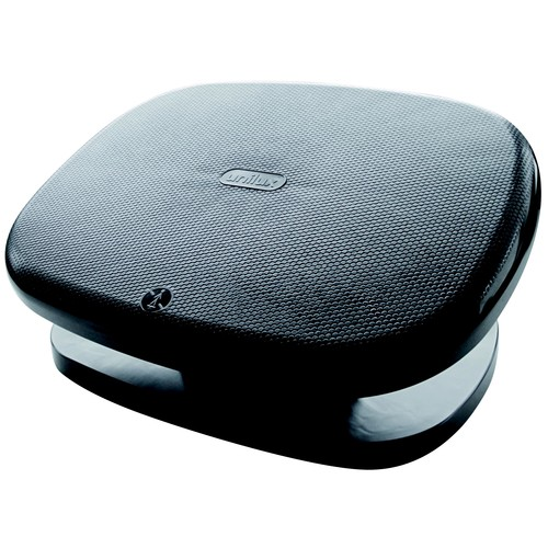 Fußstütze CHOCOLAT Trittfläche 420x320mm höhenverstellbar schwarz Unilux 100340816 Produktbild Front View L