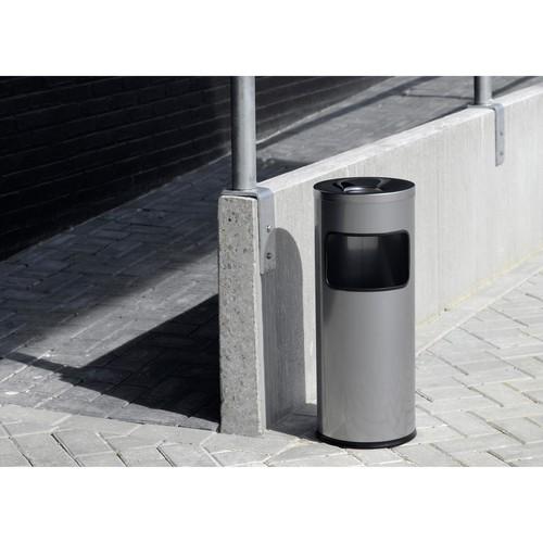 Standascher mit Abfallsammler und Flammenlöschkopf 2l + 17l metallic anthrazit Metall Durable 3332-58 Produktbild Additional View 1 L