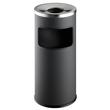 Standascher mit Abfallsammler und Flammenlöschkopf 2l + 17l metallic anthrazit Metall Durable 3332-58 Produktbild