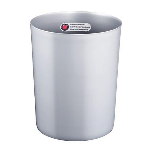 Papierkorb mit Alu-Einsatz schwer entflammbar 13L silber Zwingo Z11950 Produktbild
