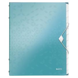 Ordnungsmappe WOW mit Gummizug A4 mit 12 Fächern und 3 Klappen eisblau metallic PP Leitz 4634-00-51 Produktbild