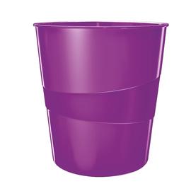 Papierkorb WOW 15l violett metallic Leitz 5278-10-62 Produktbild